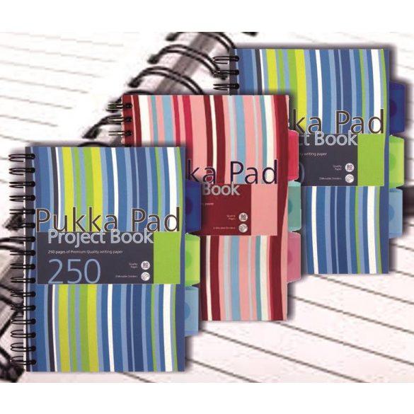 Spirálfüzet kockás-vonalas Project Book Pukka Pad A/5 (148x210mm) 125lap (250 oldal)