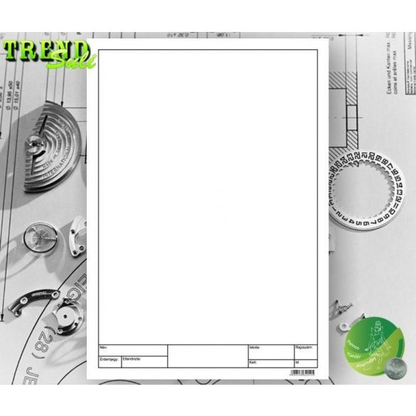Rajzlap keretezett műszaki fehér famentes DIPA Prémium SuliTREND A/4 (210x297mm) 190g 10ív