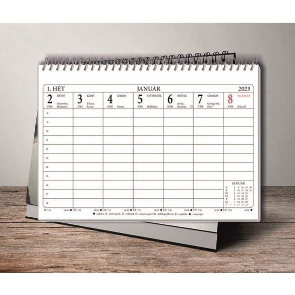 Naptár asztali 23TA 195x128mm 2022