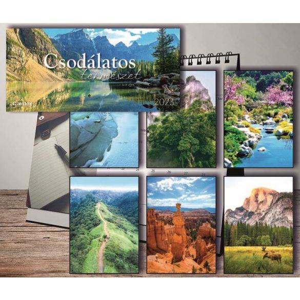 Naptár asztali Csodálatos természet 2022 Cardex 300x150mm