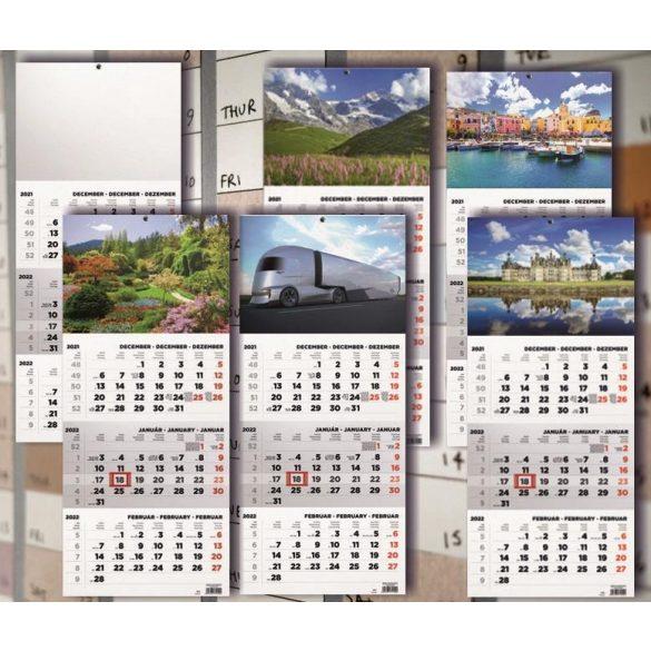 Speditőr naptár 3 havi 1 tömbös 315x693mm
