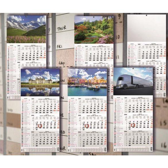 Speditőr naptár 3+1 havi 1 tömbös 290x628mm