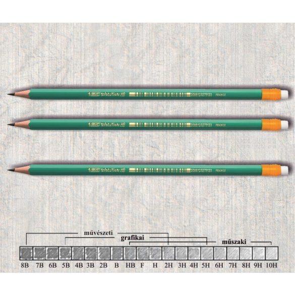 Grafitceruza HB radíros hatszögű hajlékony lakkozott Evolution 655 BIC