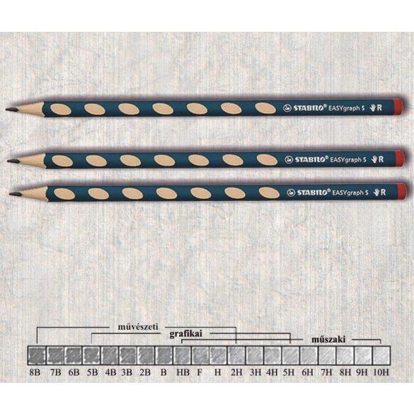 Grafitceruza HB jobbkezes háromszögű lakkozott EASYgraph Stabilo - sötétzöld ceruzatest
