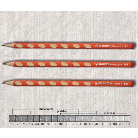 Grafitceruza HB jobbkezes háromszögű lakkozott EASYgraph Stabilo - narancssárga ceruzatest