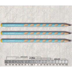 Grafitceruza HB balkezes háromszögű lakkozott EASYgraph Stabilo - kék ceruzatest