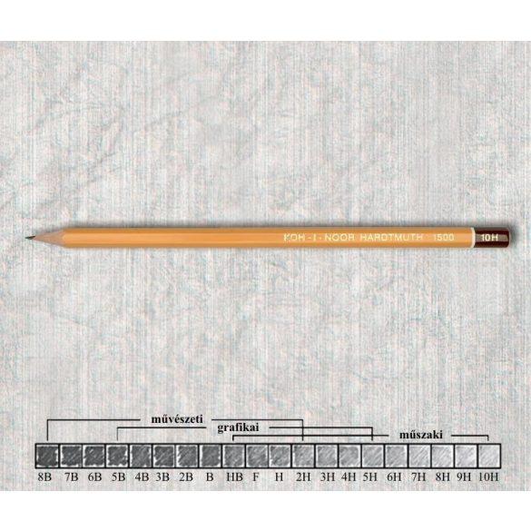 Grafitceruza 10H hatszögű lakkozott 1500 Koh-I-Noor