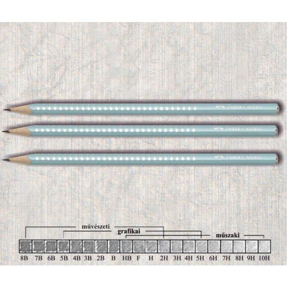 Grafitceruza B háromszögű lakkozott Sparkle Faber-Castell - türkizkék gyöngyház ceruzatest