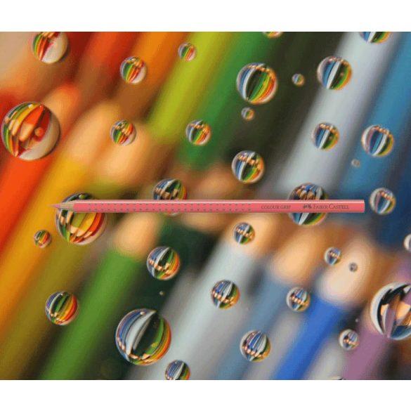 Színesceruza sötét rózsaszín háromszögű csúszásgátló lakkozott 112429 Grip 2001 Faber-Castell
