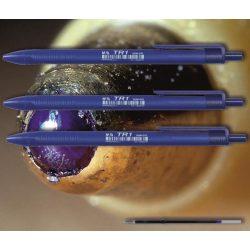 Golyóstoll kék TR1 M&G - nyomógombos, kék háromszögű tolltest, 0,5mm (X-18 betéttel)