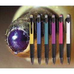 Golyóstoll kék 0112 Spoko ;-) - nyomógombos, színes tolltest, 0,5mm (X-18 0293 betéttel)