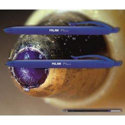 Golyóstoll kék P1 Touch Milan - nyomógombos, kék tolltest, 0,7mm (X-18 betéttel)
