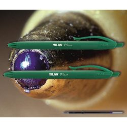 Golyóstoll zöld P1 Touch Milan - nyomógombos, zöld tolltest, 0,7mm (X-18 betéttel)