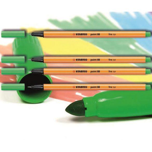 Tűfilc világos smaragdzöld 88/16 point Stabilo - 0,4mm, vízbázisú