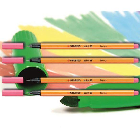 Tűfilc lilás rózsaszín 88/17 point Stabilo - 0,4mm, vízbázisú