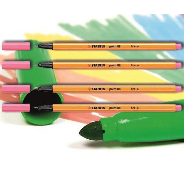 Tűfilc világos rózsaszín 88/29 point Stabilo - 0,4mm, vízbázisú
