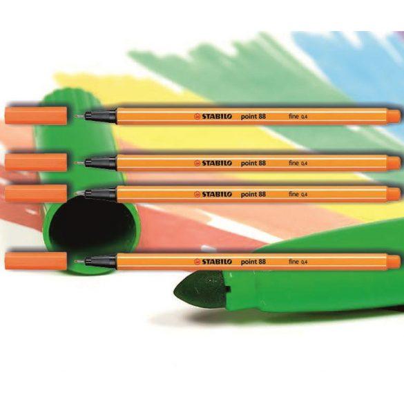 Tűfilc világos cinóberpiros 88/30 point Stabilo - 0,4mm, vízbázisú