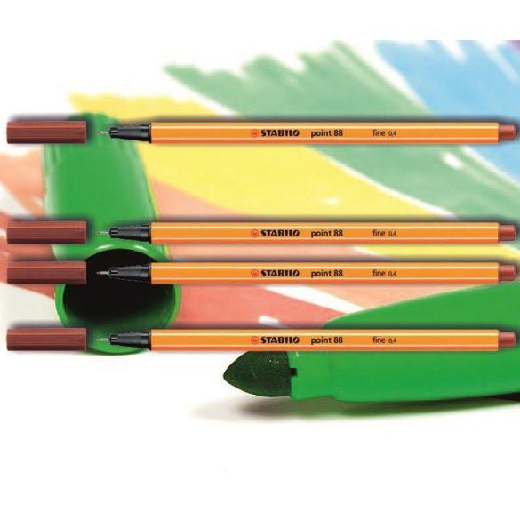 Tűfilc rozsdavörös 88/38 point Stabilo - 0,4mm, vízbázisú