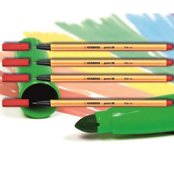 Tűfilc piros 88/40 point Stabilo - 0,4mm, vízbázisú