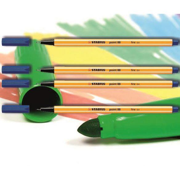 Tűfilc kék 88/41 point Stabilo - 0,4mm, vízbázisú