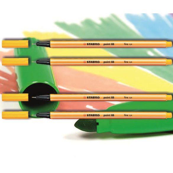 Tűfilc világos citromsárga 88/44 point Stabilo - 0,4mm, vízbázisú