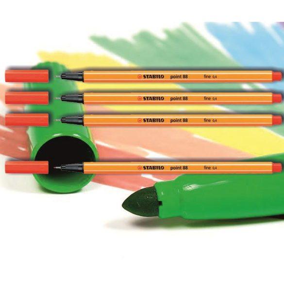 Tűfilc kárminvörös 88/48 point Stabilo - 0,4mm, vízbázisú