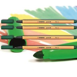 Tűfilc fenyőzöld 88/53 point Stabilo - 0,4mm, vízbázisú