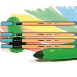 Tűfilc azúrkék 88/57 point Stabilo - 0,4mm, vízbázisú
