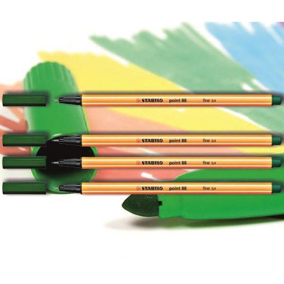 Tűfilc olivazöld 88/63 point Stabilo - 0,4mm, vízbázisú
