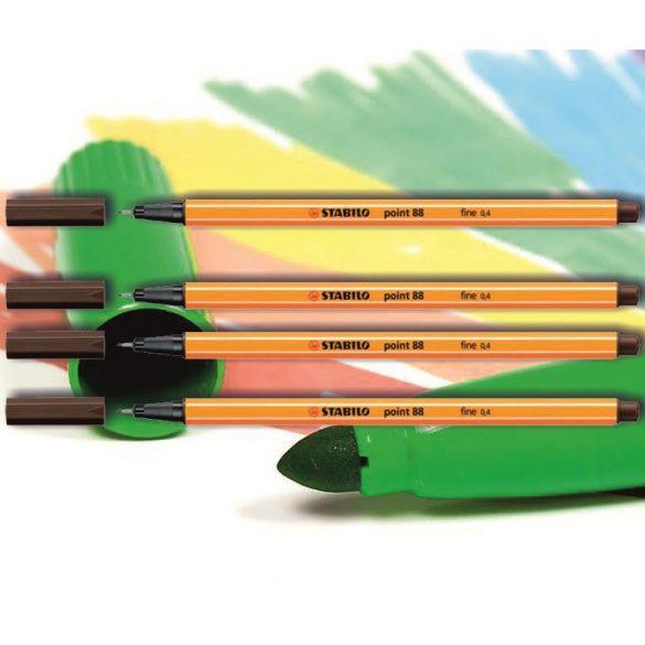 Tűfilc umbrabarna 88/65 point Stabilo - 0,4mm, vízbázisú