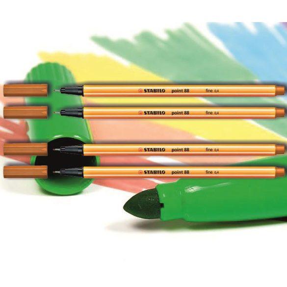 Tűfilc sötét okkersárga 88/89 point Stabilo - 0,4mm, vízbázisú