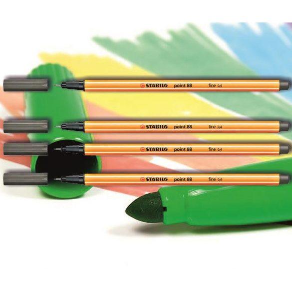 Tűfilc sötét szürke 88/96 point Stabilo - 0,4mm, vízbázisú
