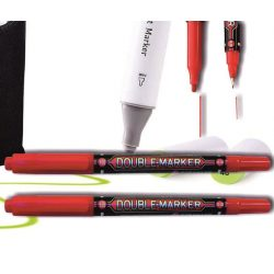 Alkoholos filc piros kétvégű kerek M&G - 0,8mm, 2,8mm