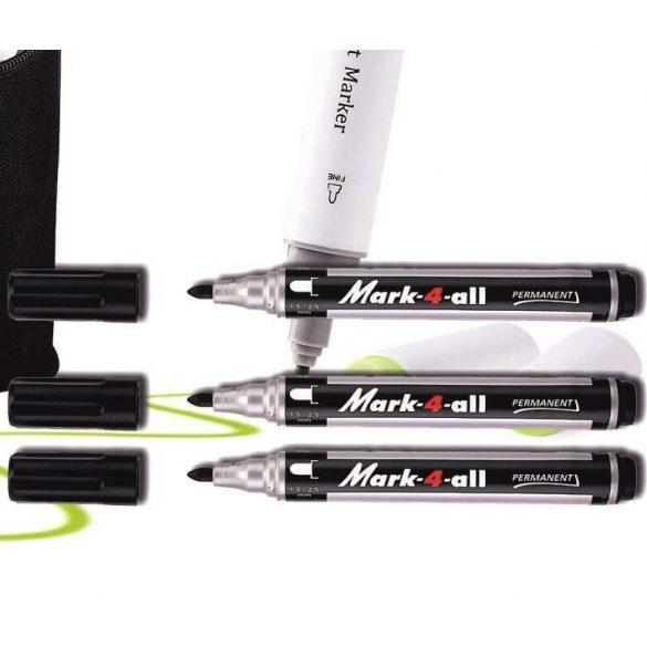 Alkoholos filc fekete kerek Mark-4-all Stabilo - 1,5-2,5mm
