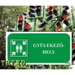 """Információs tábla """"Gyülekezőhely"""" zöld-fehér IrodaTREND 200x100mm"""