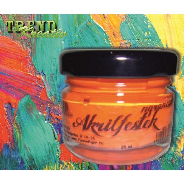 Akrilfesték narancssárga matt KreatívTREND 25ml