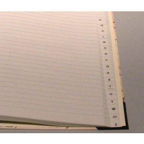 Keményfedelű fűzött regiszteres füzet