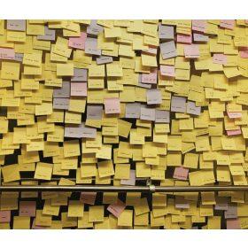 Sárga öntapadós jegyzettömb