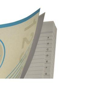 Papírfedelű fűzött regiszteres füzet